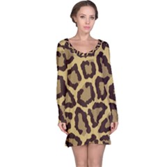 Leopard Long Sleeve Nightdress