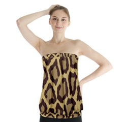 Leopard Strapless Top