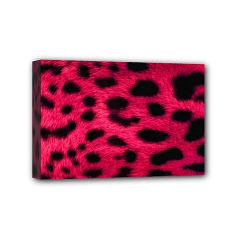 Leopard Skin Mini Canvas 6  X 4