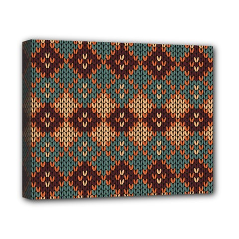 Knitted Pattern Canvas 10  X 8