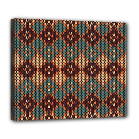 Knitted Pattern Deluxe Canvas 24  X 20
