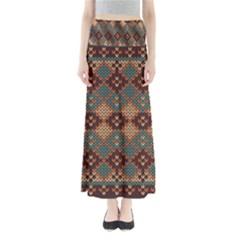 Knitted Pattern Full Length Maxi Skirt