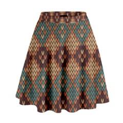 Knitted Pattern High Waist Skirt