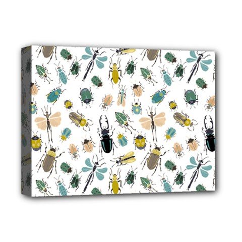 Insect Animal Pattern Deluxe Canvas 16  X 12