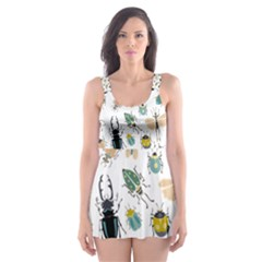 Insect Animal Pattern Skater Dress Swimsuit
