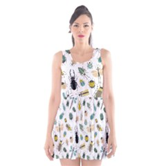 Insect Animal Pattern Scoop Neck Skater Dress
