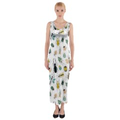 Insect Animal Pattern Fitted Maxi Dress