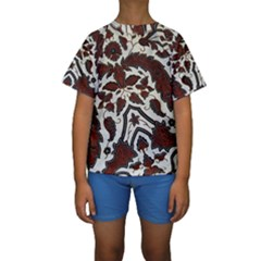 Javanese Batik Kids  Short Sleeve Swimwear
