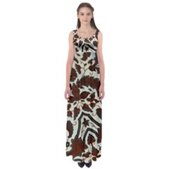 Javanese Batik Empire Waist Maxi Dress