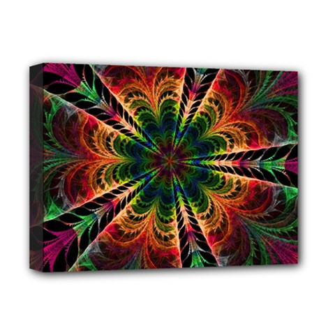 Kaleidoscope Patterns Colors Deluxe Canvas 16  X 12