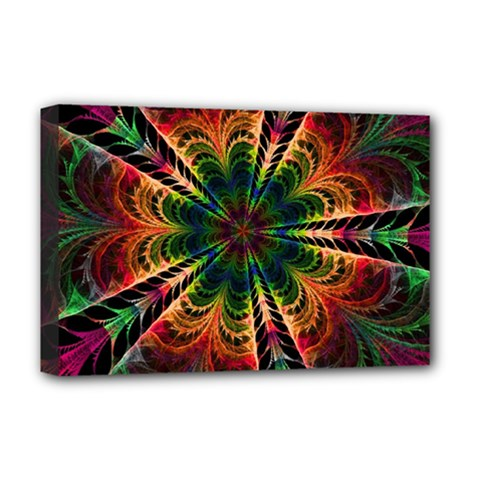 Kaleidoscope Patterns Colors Deluxe Canvas 18  X 12