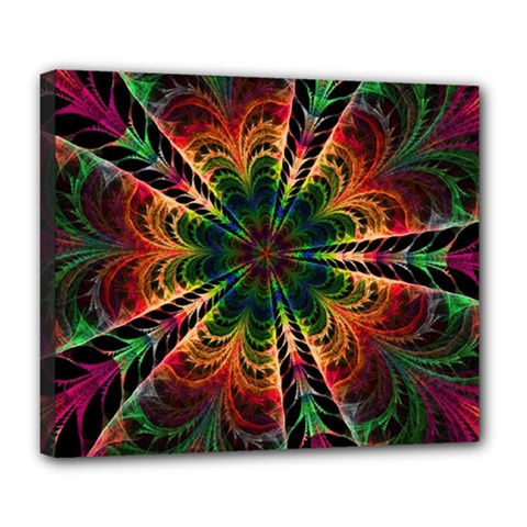 Kaleidoscope Patterns Colors Deluxe Canvas 24  X 20