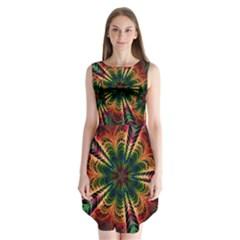 Kaleidoscope Patterns Colors Sleeveless Chiffon Dress