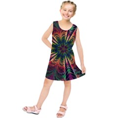 Kaleidoscope Patterns Colors Kids  Tunic Dress