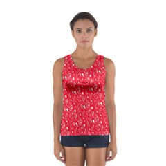 Heart Pattern Sport Tank Top