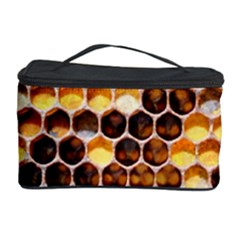 Honey Honeycomb Pattern Cosmetic Storage Case