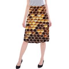 Honey Honeycomb Pattern Midi Beach Skirt