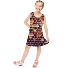 Honey Honeycomb Pattern Kids  Tunic Dress