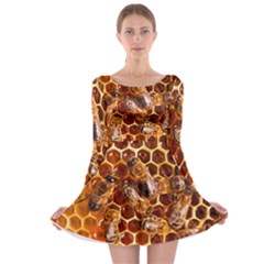Honey Bees Long Sleeve Skater Dress