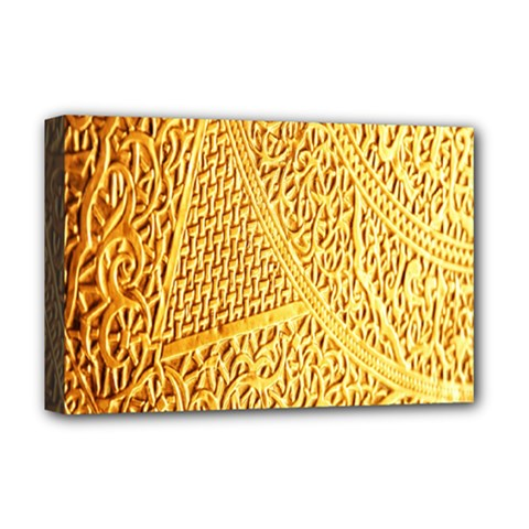 Gold Pattern Deluxe Canvas 18  X 12