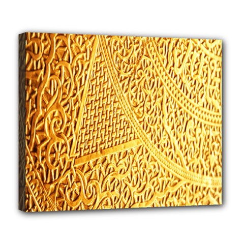 Gold Pattern Deluxe Canvas 24  X 20