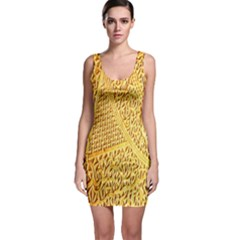 Gold Pattern Bodycon Dress