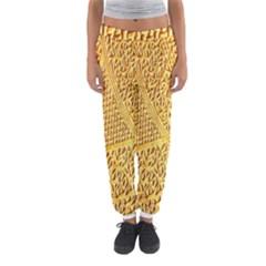 Gold Pattern Women s Jogger Sweatpants