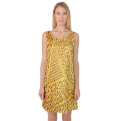 Gold Pattern Sleeveless Satin Nightdress