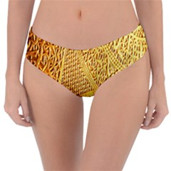 Gold Pattern Reversible Classic Bikini Bottoms