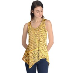 Gold Pattern Sleeveless Tunic