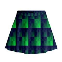 Fractal Mini Flare Skirt