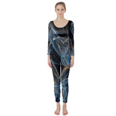 Fractal Tangled Minds Long Sleeve Catsuit
