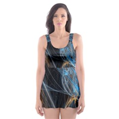 Fractal Tangled Minds Skater Dress Swimsuit