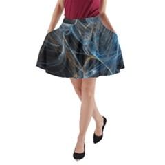 Fractal Tangled Minds A Line Pocket Skirt