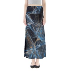 Fractal Tangled Minds Full Length Maxi Skirt