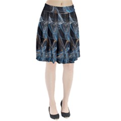 Fractal Tangled Minds Pleated Skirt
