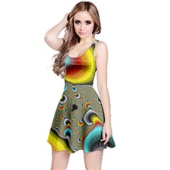 Fractals Random Bluray Reversible Sleeveless Dress