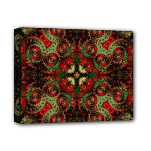 Fractal Kaleidoscope Deluxe Canvas 14  X 11