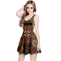 Fractal Kaleidoscope Reversible Sleeveless Dress