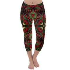 Fractal Kaleidoscope Capri Winter Leggings