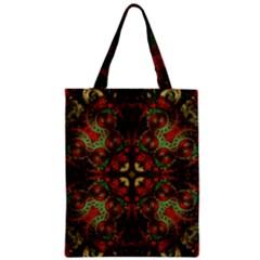 Fractal Kaleidoscope Zipper Classic Tote Bag