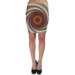 Fractal Pattern Bodycon Skirt