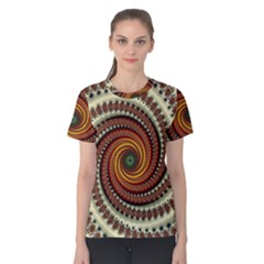 Fractal Pattern Women s Cotton Tee
