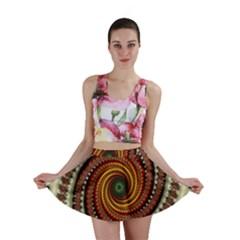 Fractal Pattern Mini Skirt