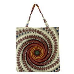 Fractal Pattern Grocery Tote Bag