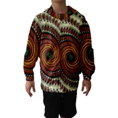 Fractal Pattern Hooded Wind Breaker (kids)
