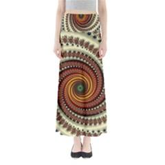 Fractal Pattern Full Length Maxi Skirt