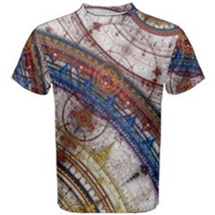 Fractal Circles Men s Cotton Tee