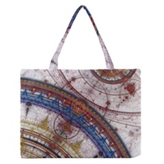 Fractal Circles Medium Zipper Tote Bag