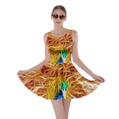 Fractal Peacock Art Skater Dress